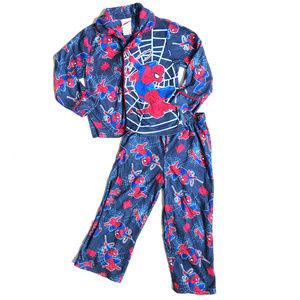 ♛5/$25♛ Spiderman 2-Piece Button Up Pajama Set 4T
